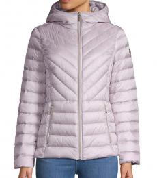 Michael Kors Lavender Missy Zip Packable Down Jacket