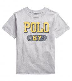 Ralph Lauren Boys Andover Heather Logo T-Shirt