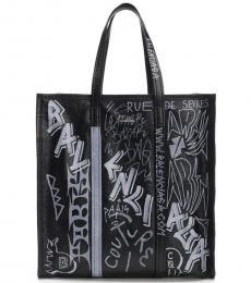 Balenciaga Black Graffiti Large Tote