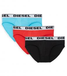 Diesel Blue Red Black Andre 3-Pack Briefs