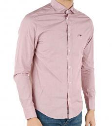Armani Jeans Pink Custom Fit Shirt