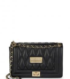 Mario Valentino Black Alice Quilted Medium Shoulder Bag