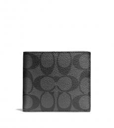 Coach Charcoal-Black Double Billfold Wallet