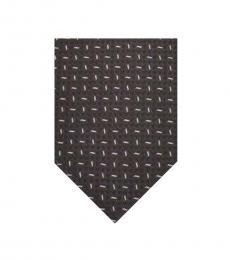 Armani Collezioni Black-White Geometric Tie