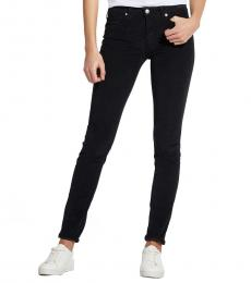 Love Moschino Black Logo Detail Mid Rise Jeans