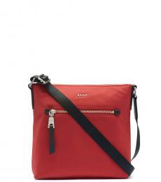 DKNY Bright Red Gia Large Crossbody