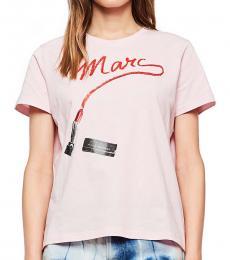 Marc Jacobs Pink Logo T-Shirt