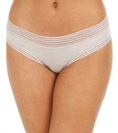 Calvin Klein Natural Striped-Waist Hipster Underwear