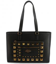 Love Moschino Black Studded Large Tote