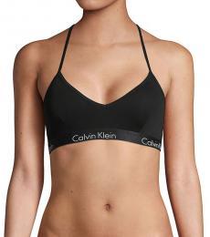 Calvin Klein Black Motive Stretch-Cotton Bralette