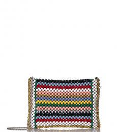 Betsey Johnson Multicolor Bead Mini Crossbody Bag