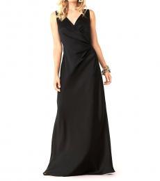 Diane Von Furstenberg Black V-Neck Evening Dress