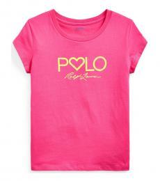 Ralph Lauren Girls Pink Logo Jersey T-Shirt