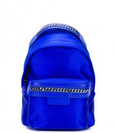 Stella McCartney Blue Solid Small Backpack