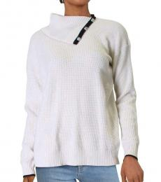 Ralph Lauren White Sharyna Cashmere Pullover