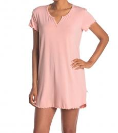 UGG Pink Split Neck Solid Nightshirt