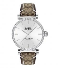 Coach Brown Madison Signature Watch