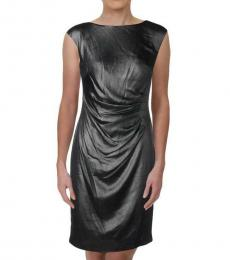 Ralph Lauren Metallic Pleated Sheath Dress