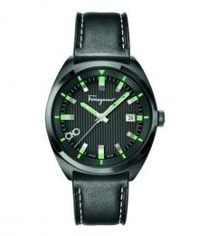 Salvatore Ferragamo Black Evolution Neon Hand Watch
