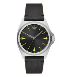 Emporio Armani Black Nicola Quartz Watch