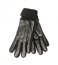 Ralph Lauren Black Metallic Woolen Gloves