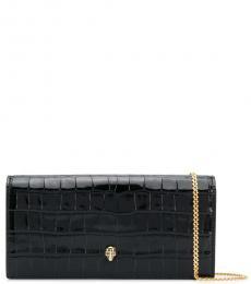 Alexander McQueen Black Skull Mini Shoulder Bag