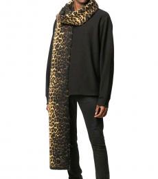 Saint Laurent Leopard Printed Casual Scarf