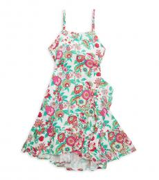 BCBGirls Little Girls Pink Green Floral Dress