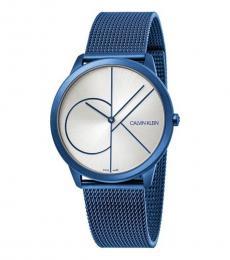 Shinny Blue Minimal Watch