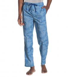 Tommy Bahama Blue Printed Drawstring Pajama