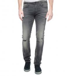 True Religion Dark Grey Rocco Skinny Slim Fit Jeans