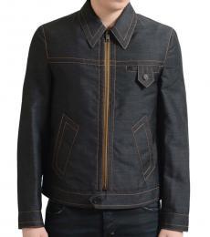 Prada Dark Grey Wool Full Zip Jacket