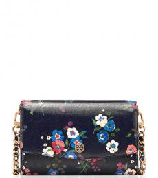 Tory Burch Black Parker Floral Small Crossbody