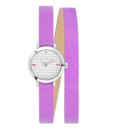 Furla Purple Vittoria Classic Watch