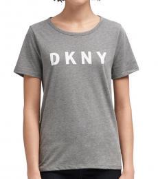 DKNY Grey Casual Box Logo T-Shirt