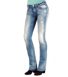 Light Blue Bootcut Stylish Jeans
