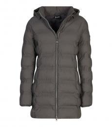 Emporio Armani Grey Removable Hooded Jacket