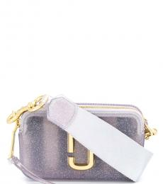 Marc Jacobs Grey Jelly Glitter Snapshot Small Crossbody