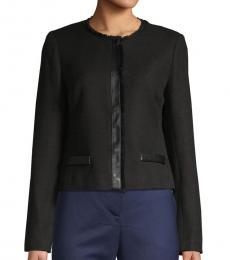 Karl Lagerfeld Black Tweed Jacket