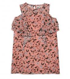 BCBGirls Girls Rose Bud Printed Ruffled Dress