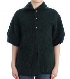 Cavalli Class Green Mohair Knitted Cardigan