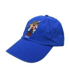 Ralph Lauren Royal Blue Bear Logo Cap