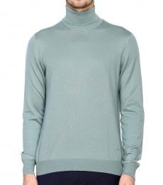 Teal Turtleneck Sweater
