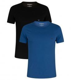 Black Blue 2 Pack Crew Logo T-Shirts
