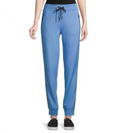 Karl Lagerfeld Blue Logo Taped Jogging Pants