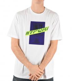 Diesel White Printed T-Just T-Shirt