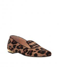 Charlotte Olympia Leopard Print Feline Loafers