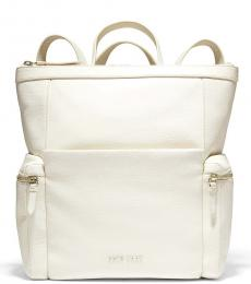 Cole Haan Ivory Grand Ambition Medium Backpack