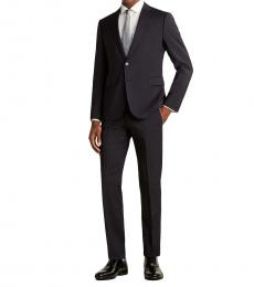 Emporio Armani Navy Blue Two-Piece Wool Suit