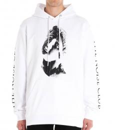 White print hood Sweatshirt
